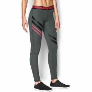 Under Armour UA Favourite Enginnered Ladies Grey Sports Training Leggings XS