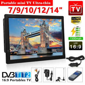 """7/9/10/12/14"""" Portable TV with Freeview HDMI 1080P HD Digital Television Player"""
