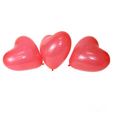 "100 PCS 12"" Red Heart Love Latex Balloons Wedding Birthday Party G4F5"