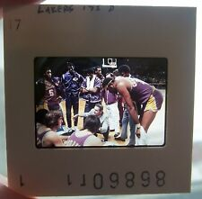 1972 Wilt Chamberlain & the'72  Los Angles Lakers Original Slide Photo Image