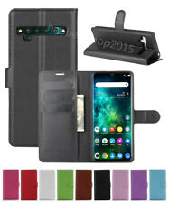 Litchi Leather slot wallet stand flip Cover Skin Case For TCL 10 Pro/10 PLUS