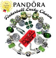 Pandora Charm Bracelet Silver Green Disney Tinker Bell European Charms New