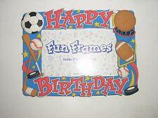 HAPPY BIRTHDAY children SPORTS photo picture frame soccer baseball hockey