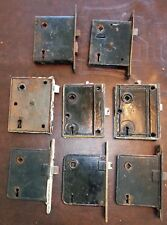 11 Vintage Antique Old Metal Door Knob Lock Mortise Mechanisms mixed lot 1 YALE