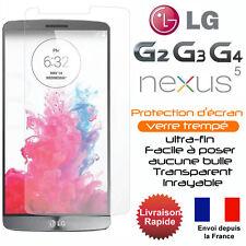 Vitre protection- film protecteur d'écran en verre trempé LG G2 G3 G4 G5 NEXUS 5