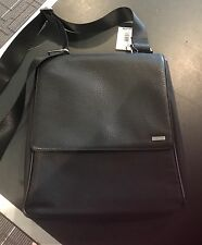 NWT Calvin Klein Style 750267 Black Nylon Leather Messenger Men's Satchel Bag