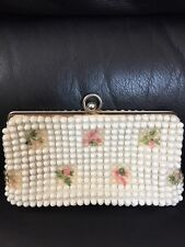 Vintage Needlepoint/Bubble Design Clutch Bag