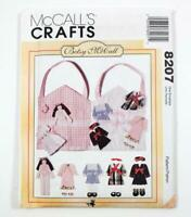 McCall's Crafts Pattern 8207 Betsy McCall Flat Doll Clothes & Carrying Case UC