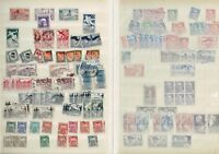 #870 France 1943-63 misc used collection accumulation in blue book on 16x sides
