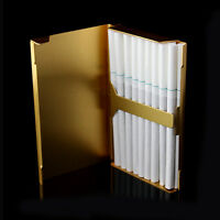 Elegant Thin Slim Aluminum Wiredrawing 20 Cigarette Case Box