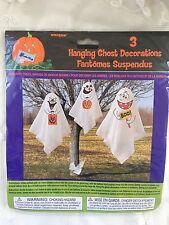Halloween Hanging Ghost Decorations Set of 3 Party Indoor Outdoor Porch Prop New