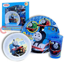 Thomas The Tank Engine Kids Dining Dinnerware 3pc Set Plate Bowl Tumbler Set