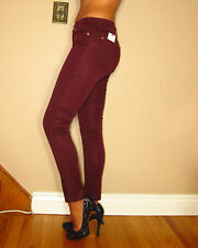 Seven 7 For All Mankind Ankle Skinny Dark Red Mulburry b(air) Jeans 28 $179 NWT