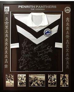 Blazed In Glory - Penrith Panthers Legends - NRL Signed & Framed Jersey