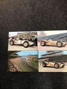 (4) VTG INDIANAPOLIS INDY 500 1957-58 JUMBO POST CARDS; HANKS, BRYAN,AGABASHIAN
