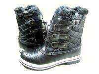 Polar Products Women's Snow Boot Rain Black Waterproof Boots,US Size 10,New