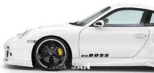 2- daBOSS Sport Decal racing sticker car door logo emblem motorsport performance