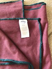 """MANDUKA EQUA YOGA MAT TOWEL 72"""" X 26.5"""" Purple w Green Fringe"""