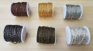 Jewellery Chain Iron Cable Style 5.9mm x 3.9mm x 1mm Links 1 Metre to 5 Metres