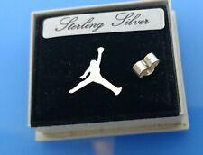 Sterling silver Nike Air Jordan Jumpman Symbol stud earring