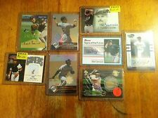 Devil Rays baseball card lot Carl Crawford Miguel Cairo Game worn auto L@K