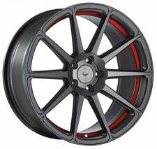 Barracuda Project 2.0 Mattgunmetal/Undercut Colour Trim Red Wheel