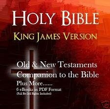 CD- Holy Bible - Old & New Testament - 6 eBooks (Resell Rights)