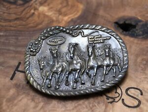 Twin Disc We Put Horses To Work Spec-Cast Belt Buckle Made in USA