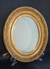 19th Century Hand Carved Wooden Oval Gold Gilt Mirror  MAGNIFICENT
