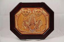 Mexican Nagual Hanging Ceramic/Wood Frame Folk Art Collectible Pablo Pajarito 2