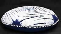 "Large 32"" Blue Round Floor Pillow Cushion Cover Tapestry Seating Throw INDIAN"