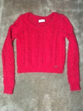 Hollister Red Knit Sweater size small