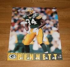 1996 Edgar Bennett Green Bay Packers poster 16x20 Super Bowl XXXI original