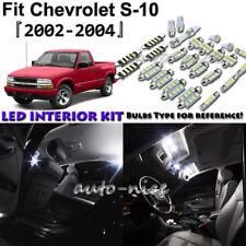10x White LED Interior Lights Package Kit For 2002 2003 2004 Chevrolet S10 S-10