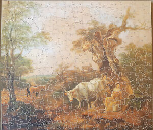 Wooden Jigsaw Puzzle, Landscape with a Woodcutter & Milkmaid Thomas Gainsborough