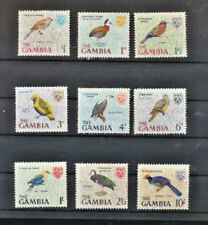 BIRDS Gambia 9 Different Mint NH Multicolor Topical Stamps issued in 1966