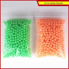 50 Perlitas perforadas luminiscentes bajos perlas reclamo pesca beads minuteria