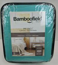 Bamboofield Split King Sheets 7 Pcs Set Prestige Collection 2000 Series Aqua