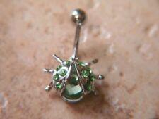 Navel Naval Lady Bug (w831) Ladybug Green Gem Belly Ring