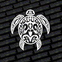 """Tribal Sea Turtle Vinyl Sticker Decal Design Ocean Hawaiian Hawaii Car Truck 5"""""""