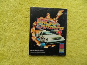 BACK TO THE FUTURE II - 2 - commodore 64 / amstrad / spectrum - original manual