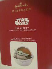 Hallmark Keepsake Baby Yoda The Child Ornament Christmas 2020 Disney Mandalorian