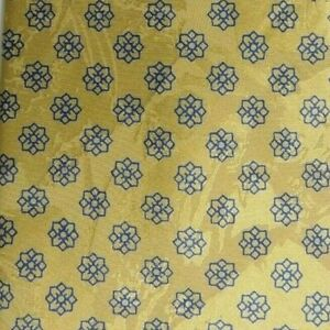 Gold Blue Foulard Silk Tie