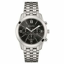 Bulova Stainless Steel Strap Casual Watches with Chronograph