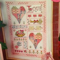 Sealed With A Kiss Sampler Cross Stitch Chart