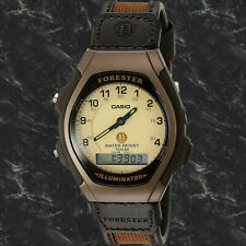 Casio FT600WB-5B Brown FORESTER Watch Analog Digital Cloth Brown 100M WR New