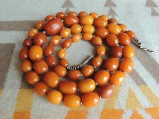 NATURAL BUTTERSCOTCH EGG YOLK AMBER BEADED NECKLACE 45 GRAMS