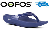 🇺🇸OOFOS OOLALA NAVY SANDAL Women's Thong Flip Flop Recovery - NEW!!!
