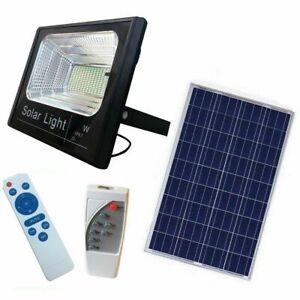 FARO LED CON PANNELLO SOLARE CREPUSCOLARE DA 10W-25W-60W-100W-200W+ TELECOMANDO