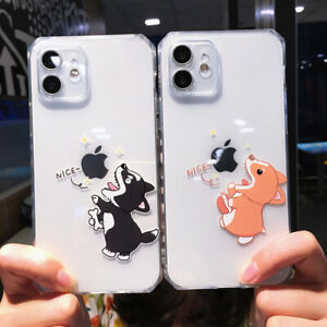 Cute Dog Pattern Phone Case for iPhone 12 11 Pro Max 7 XR XS Max Soft TPU Cover